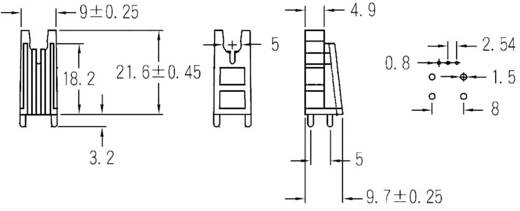 LED-Abstandshalter 1fach Natur Passend für LED 5 mm 1c. Marke KSS PLW-18