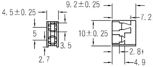 LED-Abstandshalter 2fach Schwarz Passend für LED 3 mm 1c. Marke KSS PLD2-3A