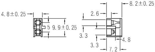 LED-Abstandshalter 2fach Schwarz Passend für LED 3 mm 1c. Marke KSS PLD2-3B