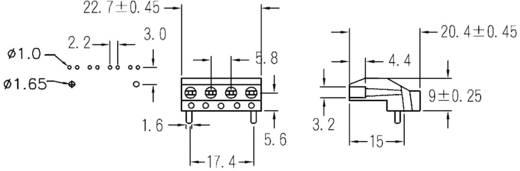 LED-Abstandshalter 4fach Schwarz Passend für LED 3 mm 1c. Marke KSS PLD4-3B