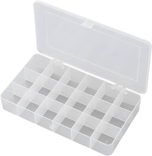 Sortimentskasten (L x B x H) 210 x 112 x 30 mm E-107 Anzahl Fächer: 18 feste Unterteilung