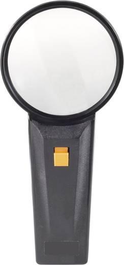 Handlupe mit Beleuchtung Vergrößerungsfaktor: 2 x Linsengröße: (Ø) 85 mm Conrad Components Magnifier2x