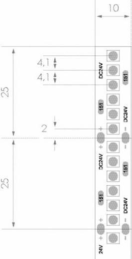 ledxon LED-Streifen mit Lötanschluss 24 V 2.5 cm Rot LFBHL-SC625-24V-6S42-20 9009060