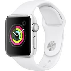 Image of Apple Watch Series 3 38 mm Aluminiumgehäuse Silber Sportarmband Weiß