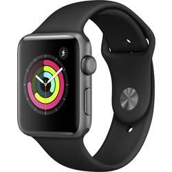 Image of Apple Watch Series 3 42 mm Aluminiumgehäuse Spacegrau Sportarmband Schwarz