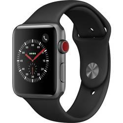 Image of Apple Watch Series 3 42 mm GPS + Cellular Aluminiumgehäuse Spacegrau Sportarmband Schwarz