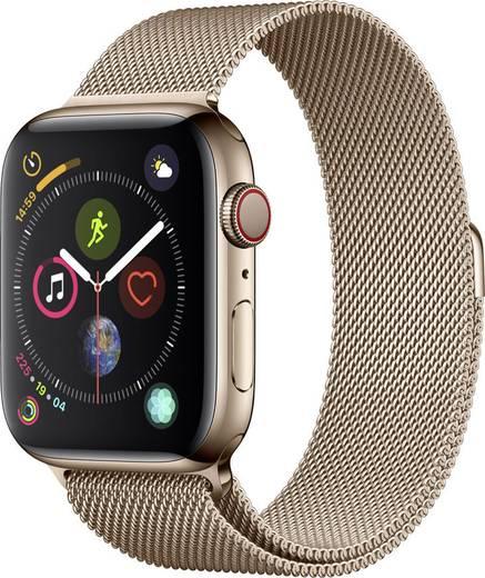 apple watch series 4 cellular 44 mm edelstahlgeh use gold milanaisearmband gold kaufen. Black Bedroom Furniture Sets. Home Design Ideas