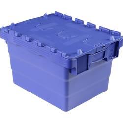 Skrinka so sklopným vekom VISO DSW 4325, (š x v x h) 400 x 250 x 300 mm, modrá
