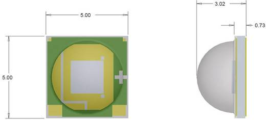 HighPower-LED Kalt-Weiß 280 lm 125 ° 2.9 V 700 mA CREE XMLAWT-00-0000-0000T6051