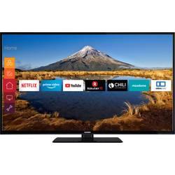 """LED TV 140 cm 55 """" Telefunken C55U446A en.třída A+ (A++ - E) DVB-C, DVB-S, UHD, Smart TV, WLAN černá"""