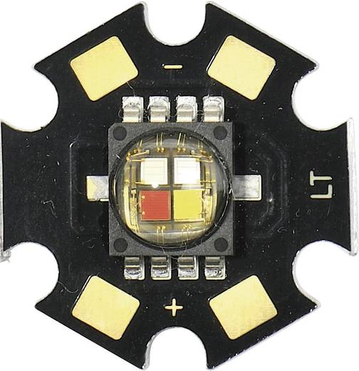HighPower-LED RGB, Neutral-Weiß 8.2 lm, 30.6 lm, 67.2 lm, 80 lm 115 ° 2.1 V, 3.4 V, 3.2 V, 3.2 V 350 mA CREE MCE4CT-