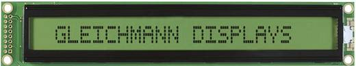 LC-Display Schwarz Gelb-Grün (B x H x T) 182 x 33.5 x 13.6 mm Gleichmann GE-C4002A-YYH-JT/R