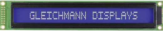 LC-Display Weiß Blau (B x H x T) 182 x 33.5 x 13.6 mm Gleichmann GE-C4002A-TMI-JT/R