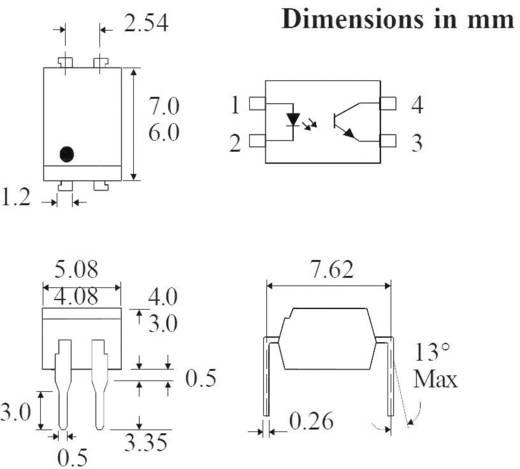 Isocom Components Optokoppler Phototransistor TLP521 DIP-4 Transistor DC