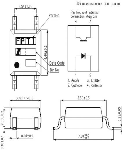 Isocom Components Optokoppler Phototransistor IS121 Mini-Flat-4 Transistor