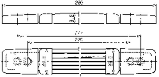 Tragegriff Schwarz (L x B x H) 280 x 28.5 x 9.5 mm Mentor 3349.1001 1 St.