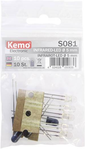 LED-Sortiment 870 nm, 925 nm 5 mm radial bedrahtet Kemo S081
