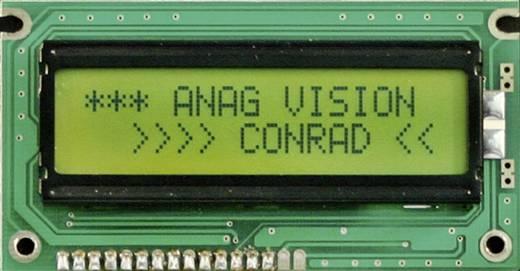 LC-Display Schwarz Gelb-Grün (B x H x T) 58 x 32 x 10 mm 12H REF. EV