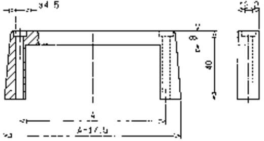 Einschubgriff Aluminium (eloxiert) (L x B x H) 102 x 12.2 x 40 mm Mentor 3268.1112 1 St.