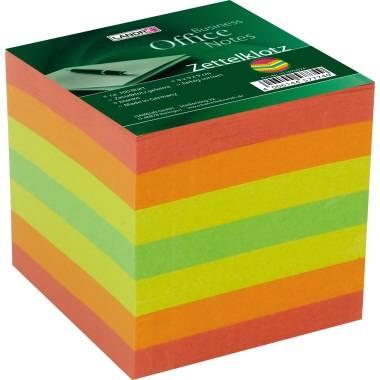 2x Zettelbox Notizwürfel Zettelblock Notizklotz farbig 5 Farben 9 x 9 cm 700 Bl.