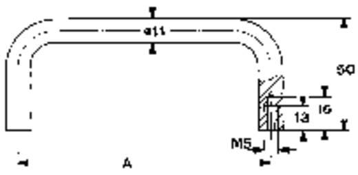 Tragegriff Aluminium (L x B x H) 131 x 11 x 50 mm Mentor 3280.1301 1 St.