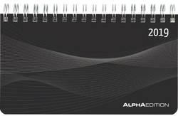 Image of ALPHA EDITION Schreibtischquerkalender Mini 2019 19.5931 15.6 x 9 cm 1 Woche/2 Seiten 1 St.
