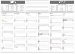 Image of ALPHA EDITION Wandkalender 2019 19.6903 29.7 x 21 cm 6 Monate/1 Seite 1 St.