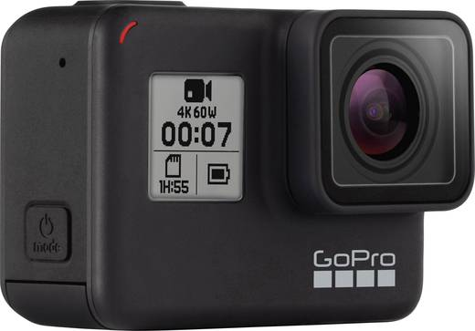 GoPro HERO 7 BLACK Action Cam Full-HD, Wasserfest, Touch-Screen, 4K