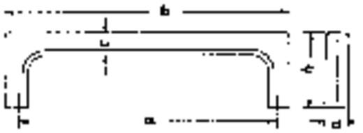 Tragegriff Schwarz (L x B x H) 75 x 12 x 32 mm Mentor 250.663 1 St.