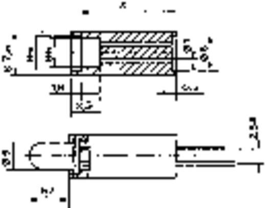 LED-Abstandshalter 1fach Schwarz Passend für LED 5 mm 1c. Marke Mentor