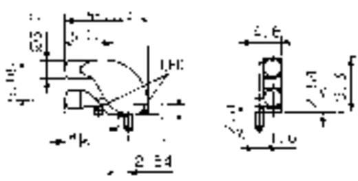 2fach Lichtleiter (FEL) für SMD