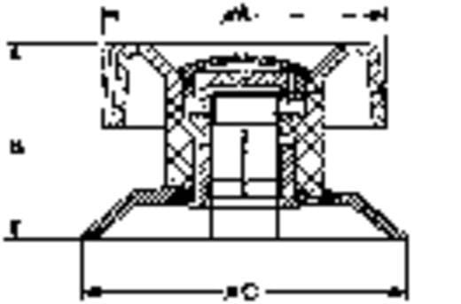 Drehknopf mit Zeiger Schwarz (Ø x H) 42 mm x 28 mm Mentor 475.61 1 St.
