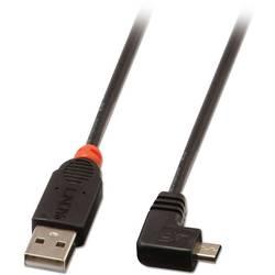 USB 2.0 prepojovací kábel LINDY LINDY USB 2.0 Kabel Typ A/Micro-B 90 gw. 31977, 2.00 m, čierna