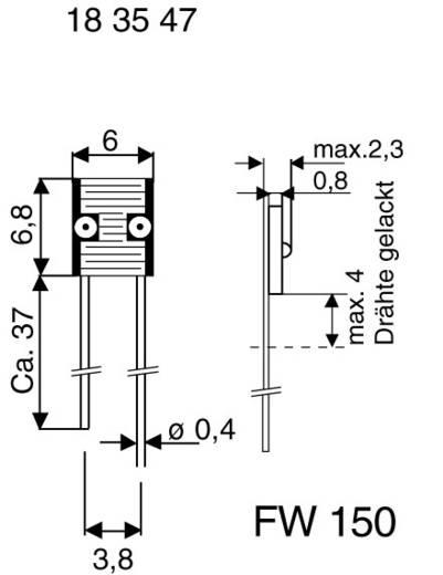 Lichtwiderstand D996023 THT 1 St. (L x B x H) 6.8 x 6 x 2.3 mm