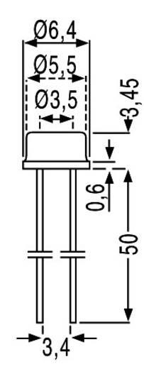 Lichtwiderstand A 1060 12 TO-18 THT 1 St. (Ø x H) 6.4 mm x 3.45 mm