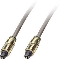 Toslink digitálny audio prepojovací kábel LINDY 37886, [1x Toslink zástrčka (ODT) - 1x Toslink zástrčka (ODT)], 10 m, sivá