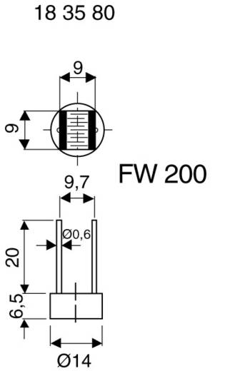 Lichtwiderstand T906022 THT 1 St. (Ø x H) 14 mm x 7.4 mm