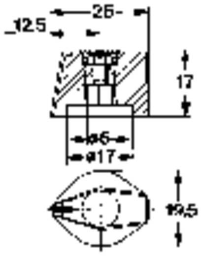 Knebelknopf mit Zeiger Schwarz Mentor 499.60 1 St.