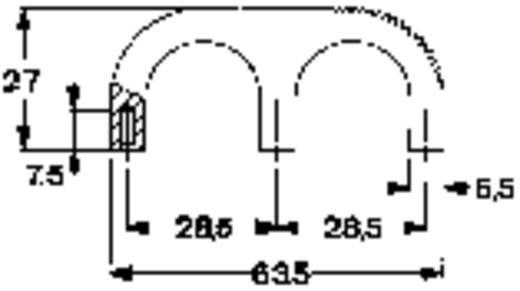 Fingergriff Schwarz (L x B x H) 63.5 x 9.5 x 27 mm Mentor 3210.2003 1 St.