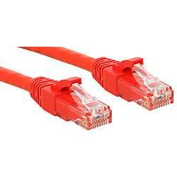 Sieťový prepojovací kábel RJ45 LINDY 45452, CAT 6, U/UTP, 1.00 m, červená