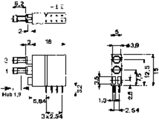 Drucktaster 60 V DC/AC 0.5 A 2 x Aus/(Ein) Mentor 1871.2231 tastend 1 St.