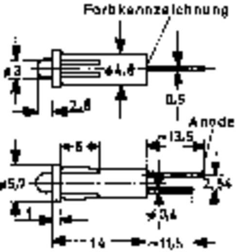 LED-Signalleuchte Rot 2.25 V 20 mA Mentor 2694.8023
