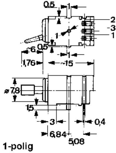 Mentor 1847.3032 Kippschalter 0.5 A 2 x Ein/Aus/Ein rastend/0/rastend 1 St.
