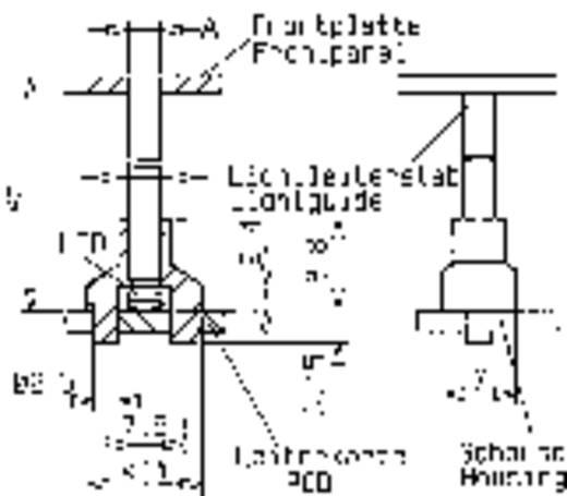 Hohllichtleiter Mentor 1216.1003 Starr Kartenbefestigung, Presspassung
