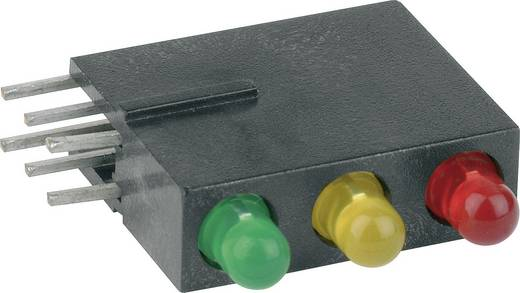 LED-Baustein 3fach Rot, Gelb, Grün (B x H x T) 5.08 x 15.24 x 12.5 mm Mentor 1881.8720
