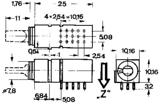 Drehschalter 60 V DC/AC 0.5 A Schaltpositionen 4 Mentor 1843.4231 1 St.