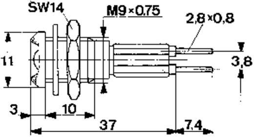 LED-Signalleuchte Rot 2.25 V 20 mA Mentor 2658.8021