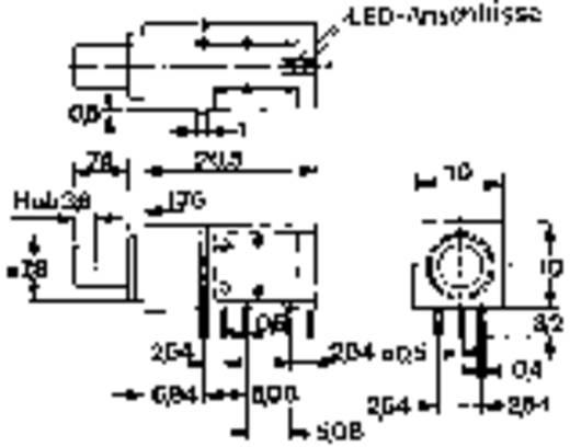 Druckschalter 60 V DC/AC 0.5 A 2 x Ein/Ein Mentor R-R rastend 1 St.