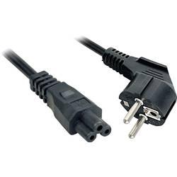 Napájací prepojovací kábel LINDY 30405, [1x DE schuko zástrčka - 1x IEC C5 zásuvka], 2.00 m, čierna