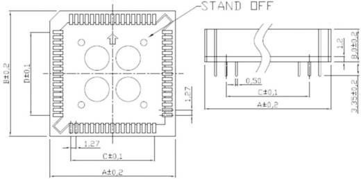 ASSMANN WSW A-CCS 044-Z-T PLCC-Fassung Rastermaß: 12.7 mm Polzahl: 44 1 St.